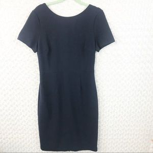 Boden Navy Blue Scoop Back Shift Dress EUC